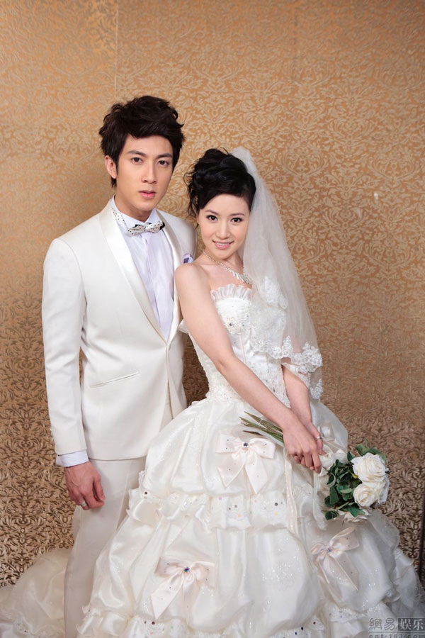Wu Chun and Liu Zi Yan in Wedding Dress