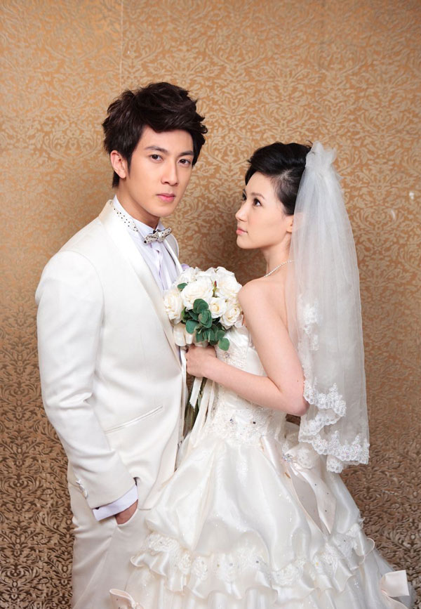 Wu Chun and Liu Zi Yan in Wedding Suit
