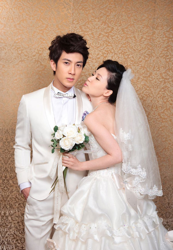Wu Chun and Liu Zi Yan in Wedding Costume