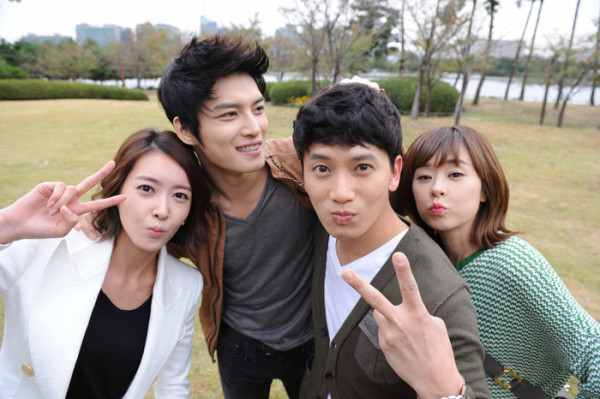 Ji Sung and Choi Kang Hee, and Kim Jae Joong nd Wang Ji Hye Happy Dating