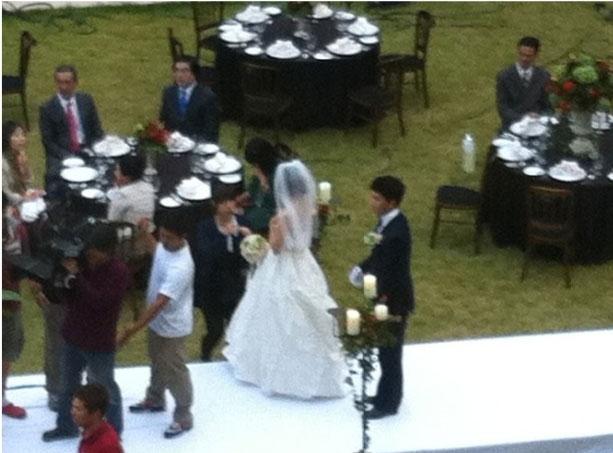 Ji Sung and Choi Kang Hee Wedding