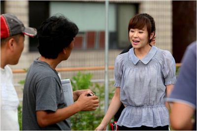 Choi Kang Hee at Can't Lose Filming Venue