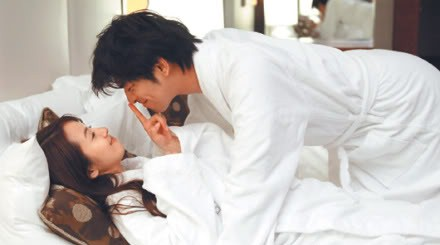 Bo-Lin Chen and Ariel Lin Yi Chen Kiss and Bed Scene