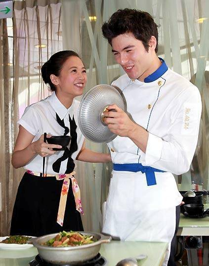 Rhydian Vaughan and Wu Ying Jie