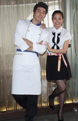 Rhydian Vaughan and Wu Ying Jie (Gui Gui)