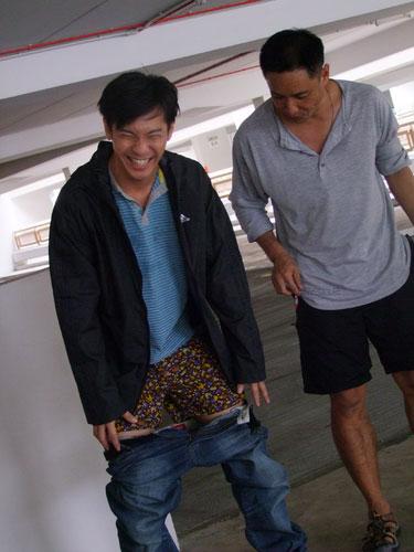 Shaun Chen Pulls Down Pant