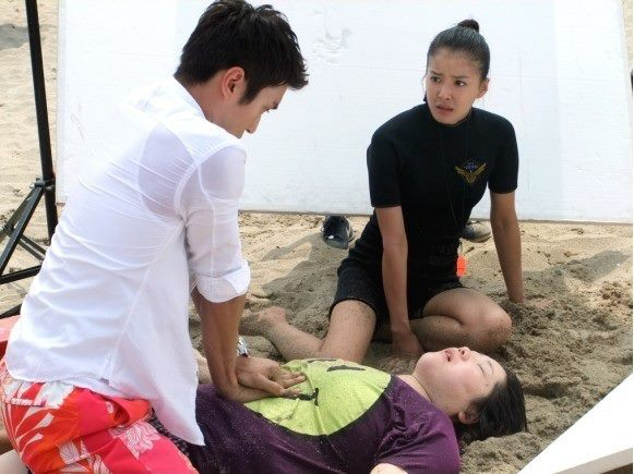 The Making of Poseidon Beach CPR Scene