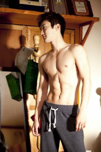 Choi Si Won Nude Half Body in Poseidon