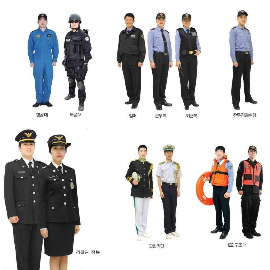 Korea Maritime Police and Coast Guard Uniform