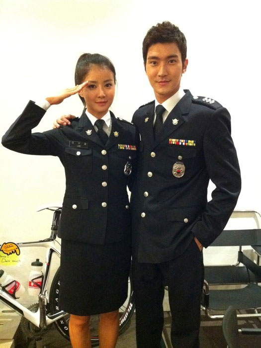 Choi Si Won and Lee Shi Young in Uniform