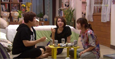 Na Yun, Eun Sul and Myung Ran Drink