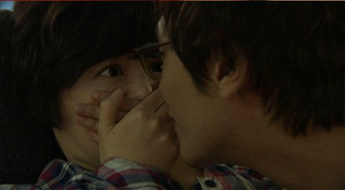 Kiss of Daniel Choi and Ku Hye Sun