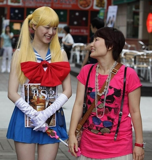 Gu Hye Sun Cosplay as Sailor Moon