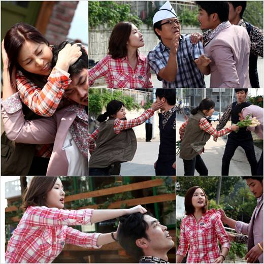 Park Min Young and Choi Myung Gil Fight Scene