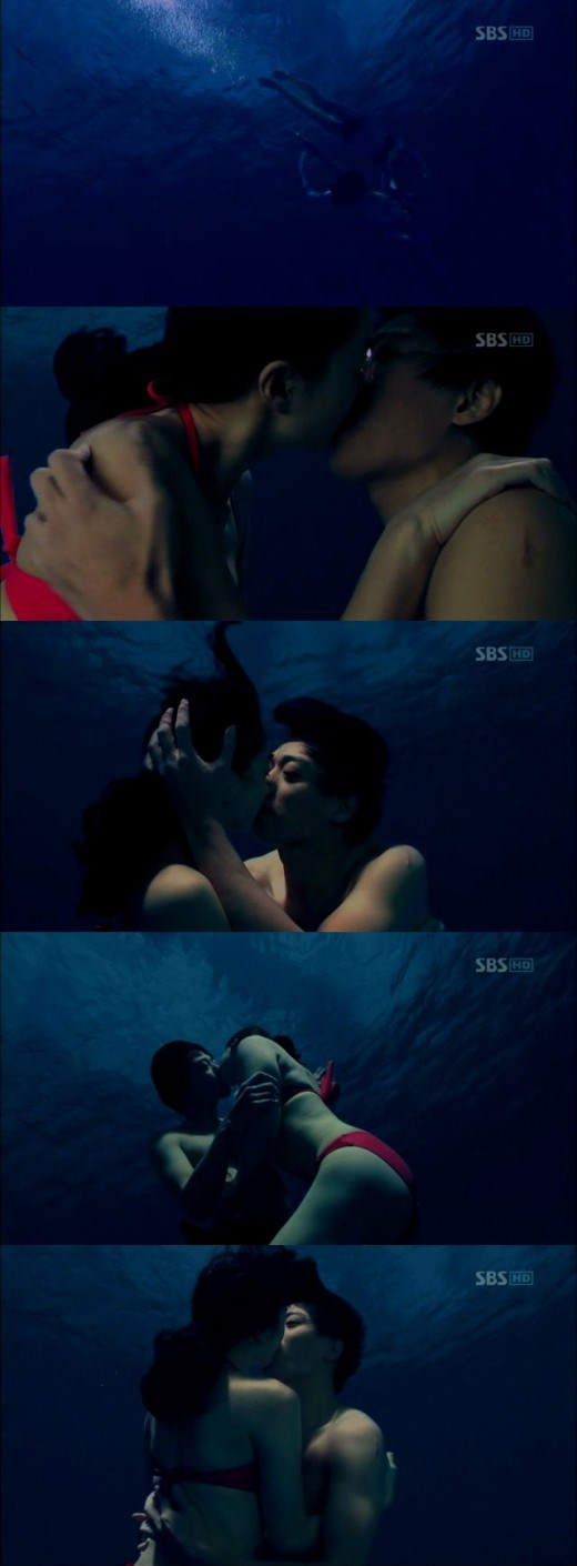 Kim Rae Won and Soo Ae in Bikini Kiss