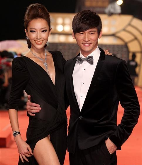 Sonia Sui and Wen Sheng Hao at Golden Bell Awards Red Carpet