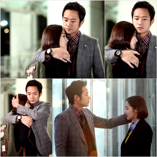 Park Min Young and Chun Jung Myung Hug