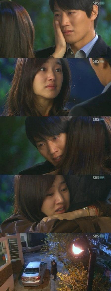 Soo Ae and Kim Rae Won Hug