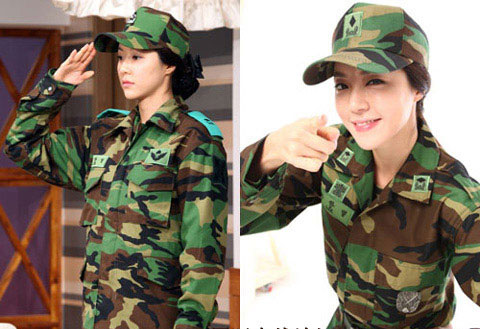 Park Han Byul in Army Uniform