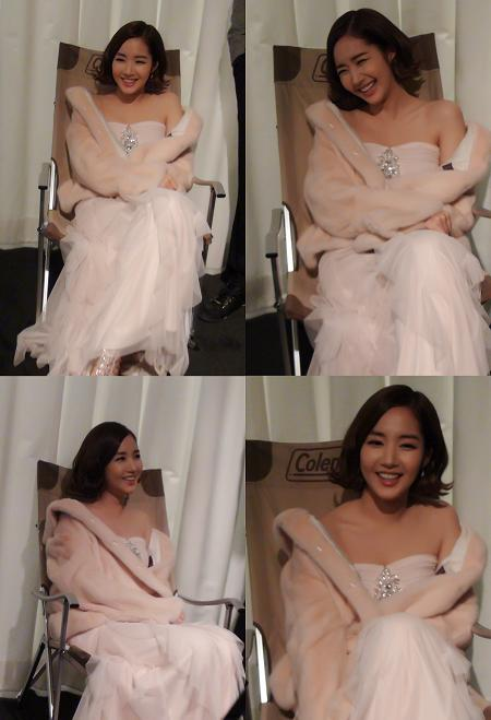 Park Min Young in Strapless Dress