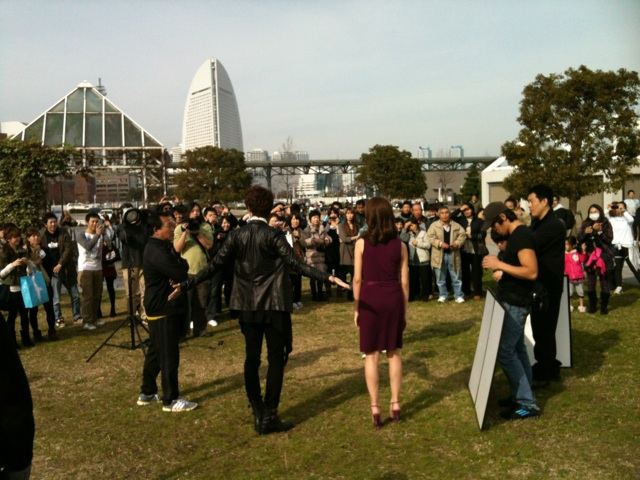 Filming of Glowing She in Japan Yokohama