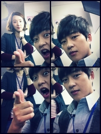 Park Kwang Hyun and So Yi Hyun