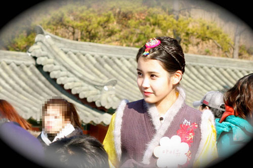 IU in Hanbok in Crown Princess Project