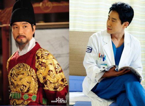 Han Suk Kyu and Shin Ha Kyun
