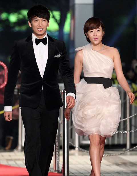 Ji Sung and Choi Kang Hee