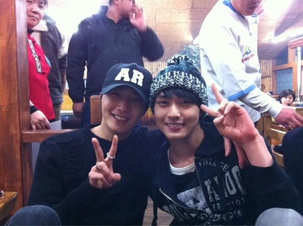 Jung Il Woo and Lee Min Ho